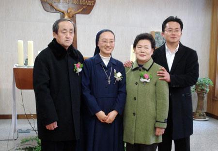 sr Clara con la famiglia