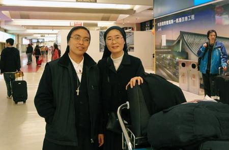 Sr Jessica e sr Maria arrivano a Taiwan